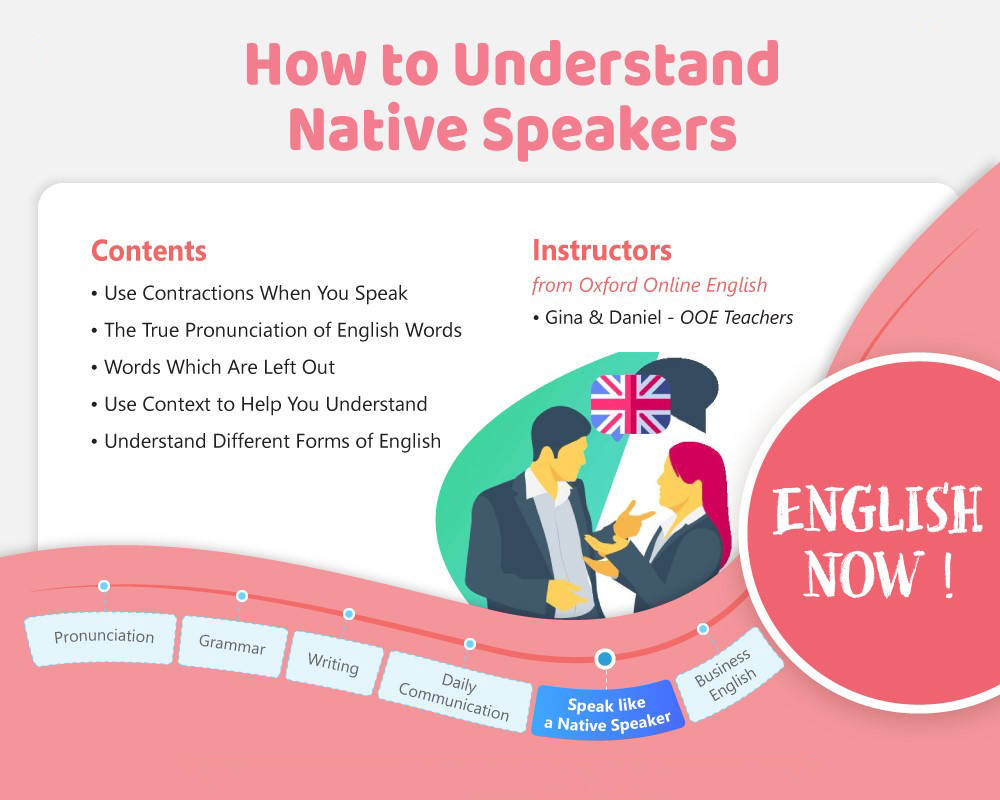 Speak like a Native Speaker - How to Understand Native Speakers