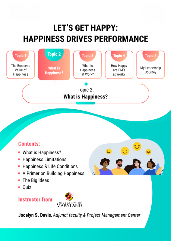 Let's Get Happy- Happiness Drives Performance